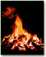 vuurloop vuur vlammen