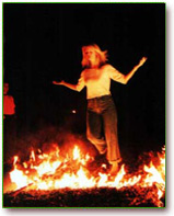 wandelen over vuur